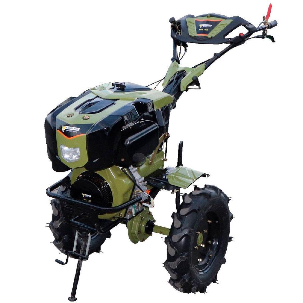 """Мотоблок-культиватор 9 л. с. колеса 12"""" Forte 1350 LUX зелений (90411)"""
