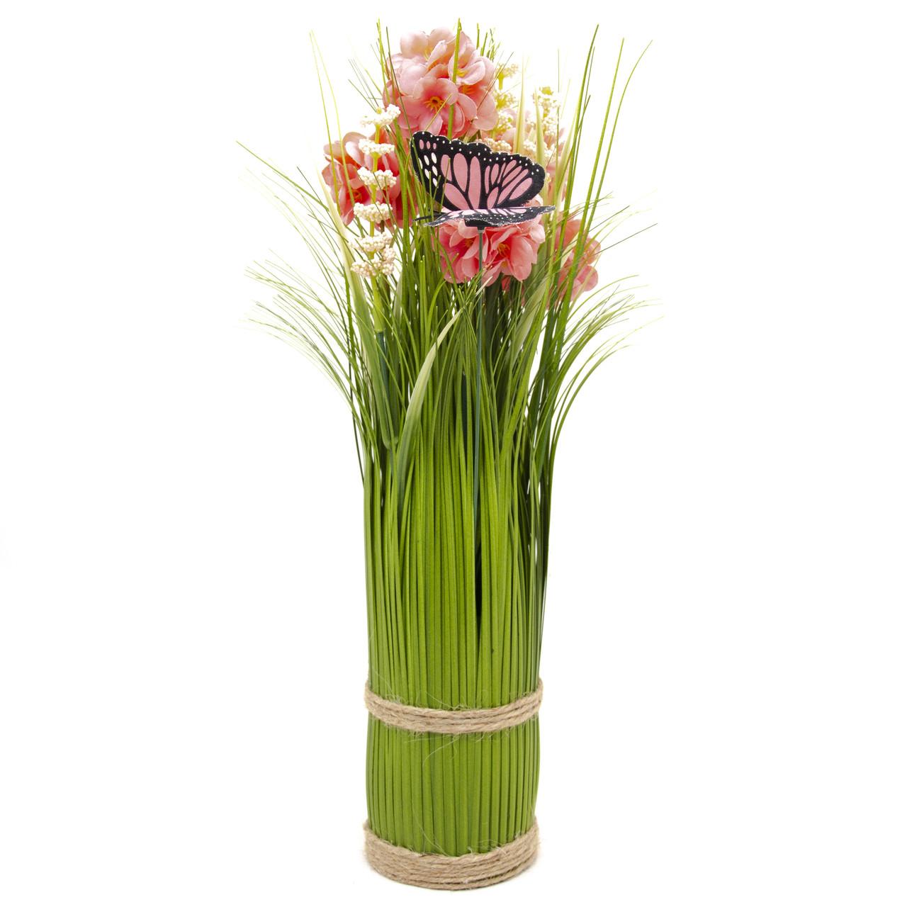 Искуственные цветы сноп, 32,5 см, розового цвета