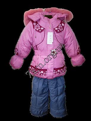 Комбенизон детский для девочки Зимний  86-1102015 модель VF 69