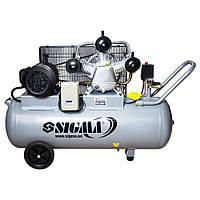Компрессор ременной трехцилиндровый 380В, 3кВт, 135л Sigma (7044711)