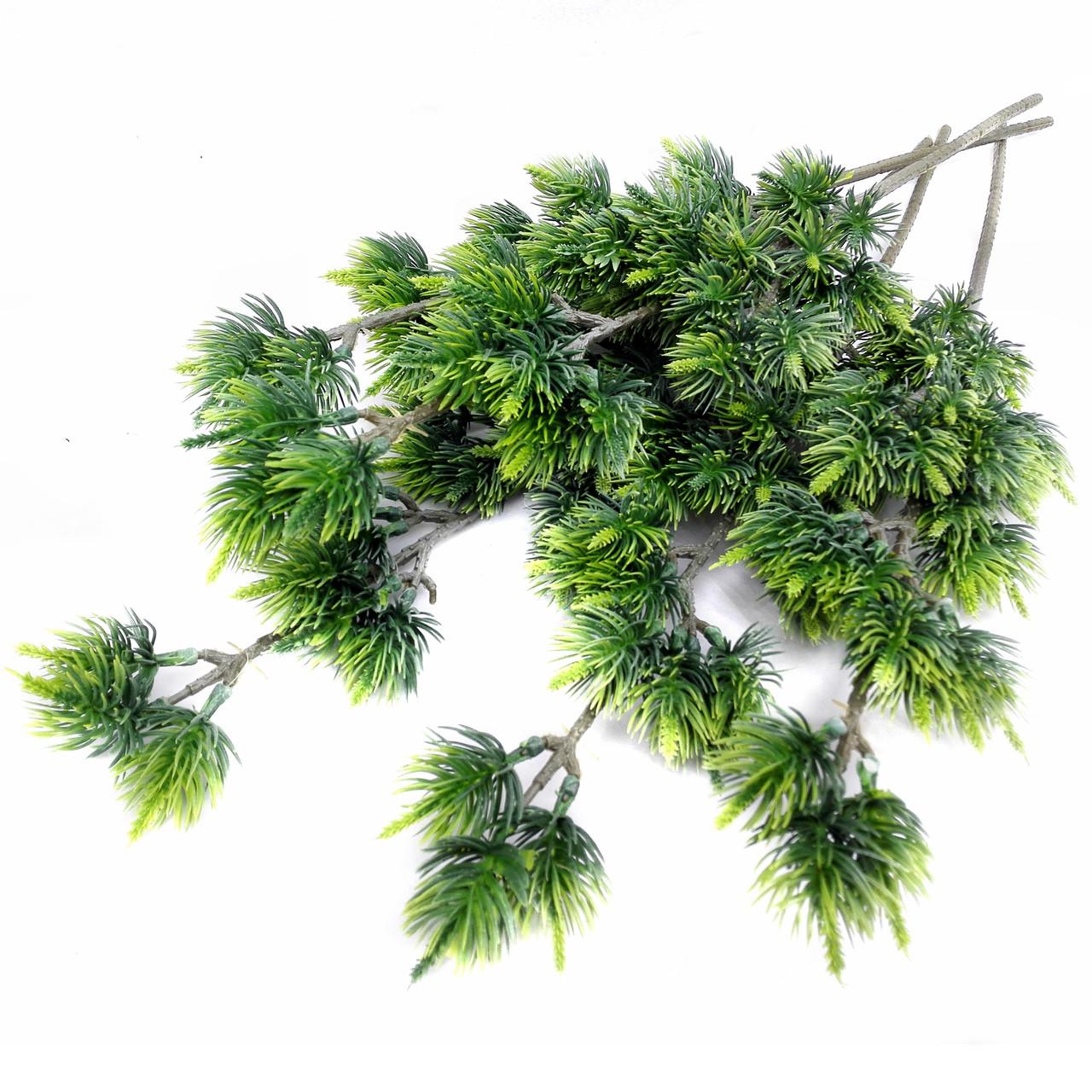 Ветка хвои зеленая  54 см (2 шт. в уп)