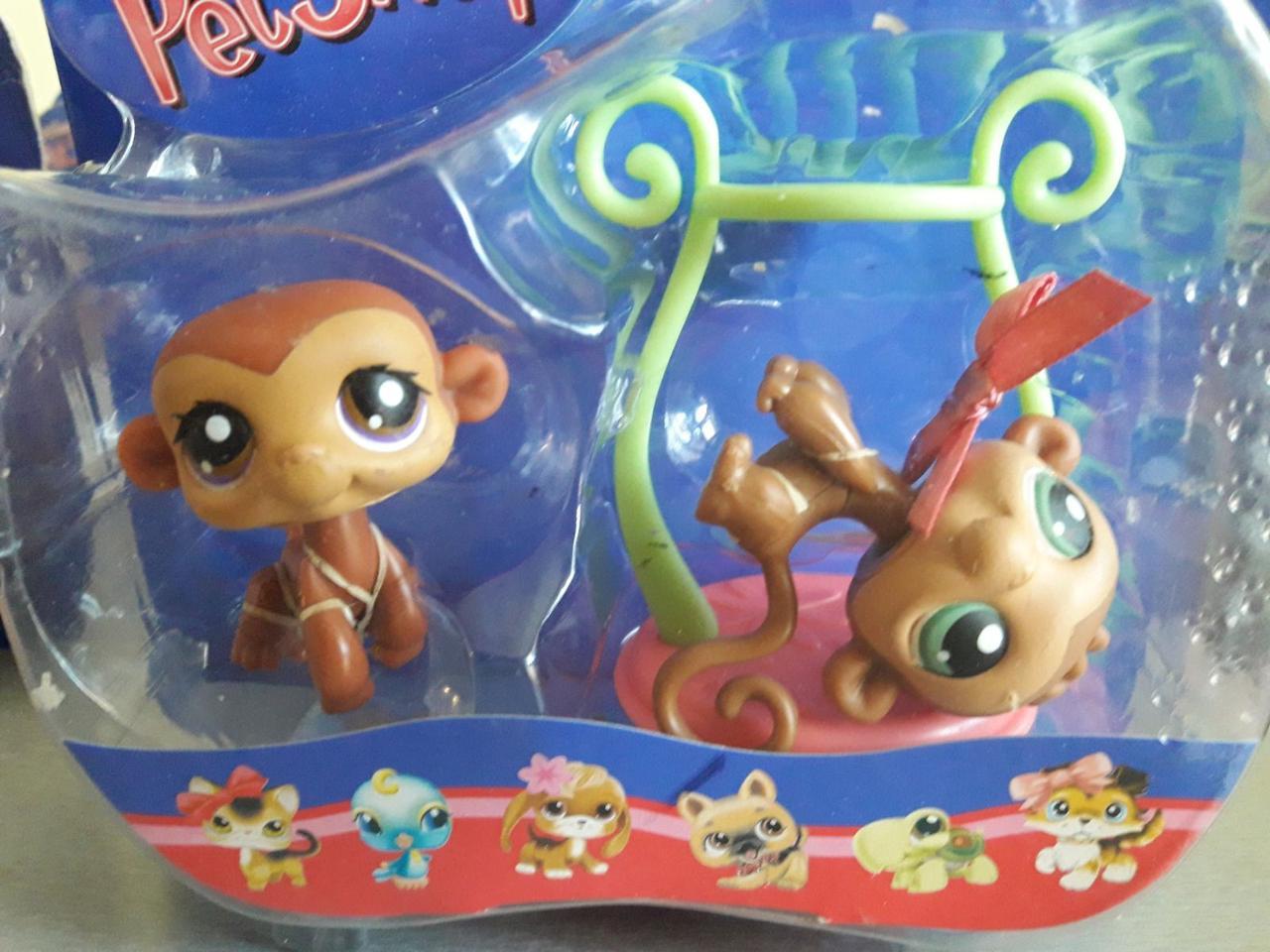 Littlest Pet Shop lps стара колекція Hasbro ігровий набір Twin Monkeys #56-57