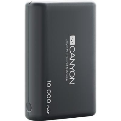 Батарея універсальна CANYON 10000mAh, Input 5V/2.1 A, Output 5V/2.1 A(Max), Black (CNS-CPBP10B)