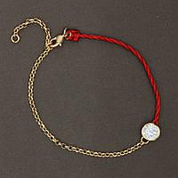 Браслет Красная нить с камнем циркон на запястье, 18-21 см