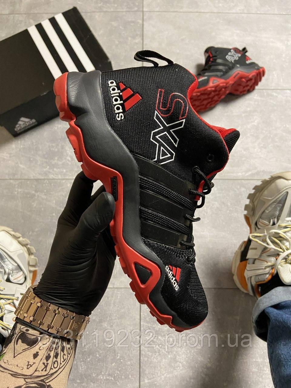 Мужские кроссовки Adidas Terrex SXA Black/Red (черные)