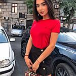 Женская футболка, коттон, р-р С; М (красный), фото 2