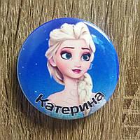 Катерина. Именной значок с изображением мультгероя