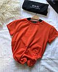 Женская футболка, коттон, р-р С; М (оранжевый), фото 2