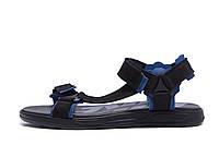 Мужские кожаные сандалии Nike Track Black (реплика)