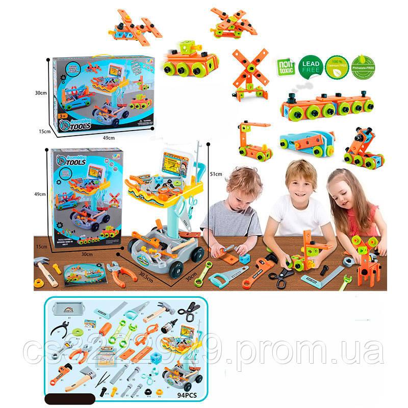 Детские строительные инструменты на тележке 890-1
