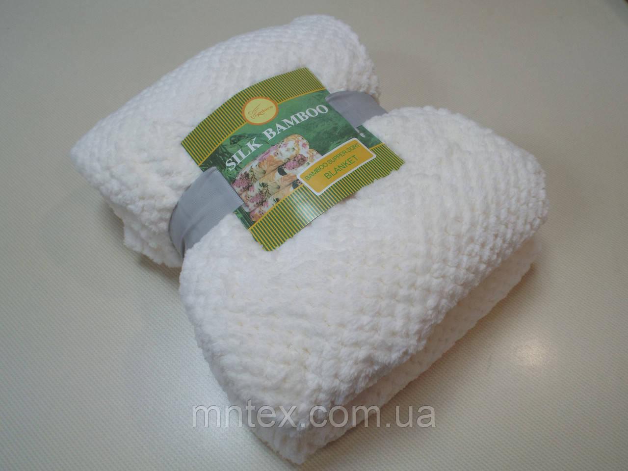Плед бамбук-микрофибра, молочный