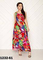 Летнее платье сарафан женское размеры 54-58
