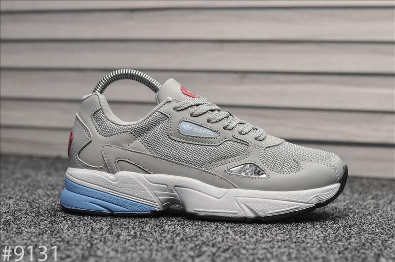 Кроссовки женские Adidas Falcon Gray Blue.Стильные кроссовки серого цвета.
