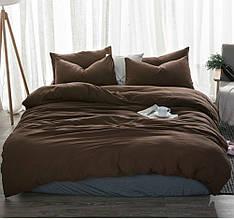 Комплект постельного белья , Темный шоколад №1397 лен .