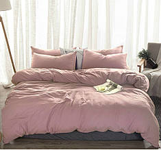 Комплект постельного белья , Пудровый №561  лен.