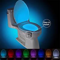 Подсветка для унитаза Led toilet Light Illumibowl СветоДиодная крышка лед светильник с датчикомДвижения крышки