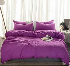 Комплект постельного белья , Сливовый №910  лен .