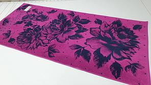 Полотенце махровое 50*90 Вальс цветов Фиолетовый. Баня 67*150см