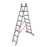 "Лестница 3.68м, двухсекционная алюминиевая 2x8 ст. ""Sirius"" Laddermaster (A2A8)"