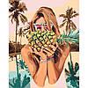 """Картина по номерам  ТМ """"Идейка"""", Люди """"Сочный ананас"""" 40*50 см, без коробки, на подрамнике"""