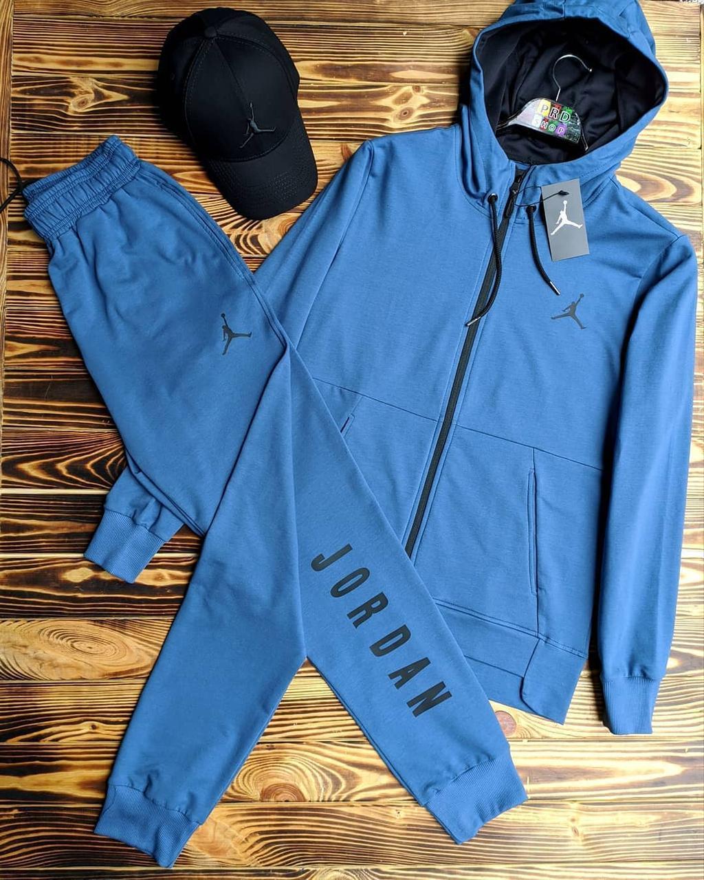 Чоловічий спортивний костюм синій