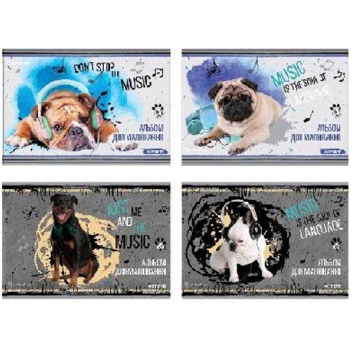 Альбом KITE А4 30 л SP20-243 для рисования спираль верхняя Studio Pets (8/96)