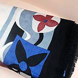 Кремовый палантин с узором Италия (Ш130см*Д136см), фото 2