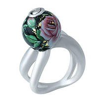 Серебряное кольцо  GS с емаллю (1928431) 18 размер