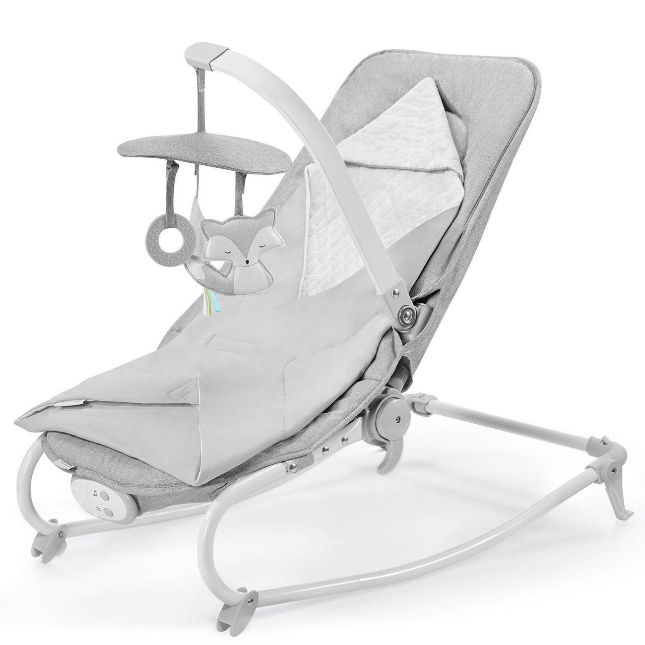 Шезлонг-качалка Kinderkraft Felio 2020 Stone Grey