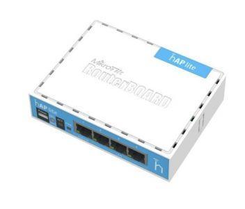 HAP lite (RB941-2nD) 2.4GHz Wi-Fi точка доступа с 4-портами Ethernet для домашнего использования