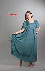 Летнее женское платье повседневное размеры 54-66