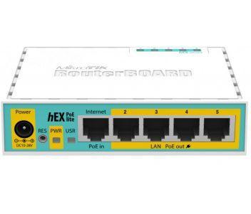 HEX PoE lite (RB750UPr2) 5-портовый маршрутизатор
