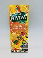 Сок Riviva с апельсиновым вкусом 200 мл Польша
