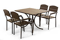 Металлический садовый комплект мебели Felicia, комплект мебели из металла, металлический комплект мебели