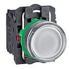 Кнопка 22 мм 220-240В синяя с подсветкой, фото 2