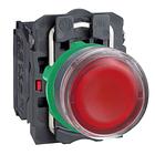 Кнопка 22 мм 220-240В синяя с подсветкой, фото 3