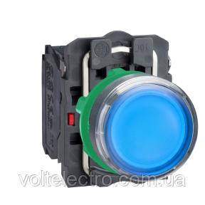Кнопка 22 мм 220-240В синяя с подсветкой