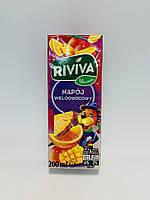 Сок Riviva с мультифруктовым вкусом 200 мл Польша