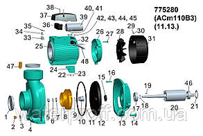 """Насос відцентровий 1.1 кВт Hmax 12.5 м Qmax 900л/хв 3"""" LEO 3.0 (775280), фото 3"""