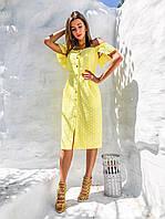 Шикарное летнее платье, 3 цвета - 40,42,44 Голубой, 40