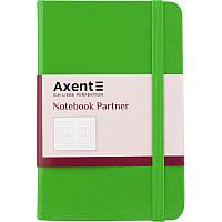 Блокнот на резинке A6 Axent Partner 8301 (96 листов) кремовая бумага, обложка твердая виниловая, салатовый