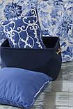Комплект постельного белья с покрывалом Pike евро TM Karaca Home Melanie İndigo, фото 2