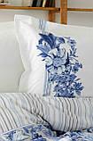 Комплект постельного белья с покрывалом Pike евро TM Karaca Home Melanie İndigo, фото 3