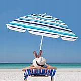 Пляжный зонт с регулируемой высотой Springos 160 см BU0006, фото 6