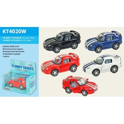 Машинка металл KINSFUN KT4020W DODGE VIPER GTSR в коробке 13 * 6 * 12см