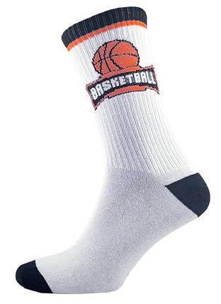 Носки высокие мужские белые с рисунком Баскетбол 39-44 р. Marca 1194234217, фото 2