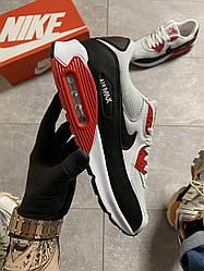 Мужские кроссовки  Nike Air Max 90 Red/White (красно-белые)