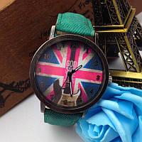 Кварцевые наручные часы на джинсовом ремешке Britania Rock Green 72157, КОД: 1392234