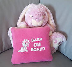 """Детский плед с вышивкой """"Baby on board"""" 01 - цвет на выбор"""