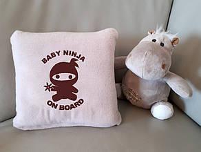 """Детский плед с вышивкой """"Baby ninja"""" 03 - цвет на выбор"""
